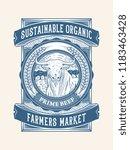 sustainable organic beef... | Shutterstock .eps vector #1183463428