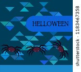halloween spider vector... | Shutterstock .eps vector #1183467358