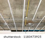 interior construction of... | Shutterstock . vector #1183473925