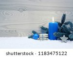 christmas cookies and blue... | Shutterstock . vector #1183475122