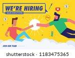 we're hiring sales executives....   Shutterstock .eps vector #1183475365
