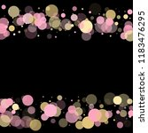 pink gold confetti circle...   Shutterstock .eps vector #1183476295