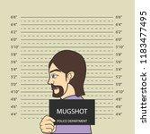 mugshot criminal line with... | Shutterstock .eps vector #1183477495