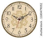grunge old vintage clock face   Shutterstock .eps vector #1183479052