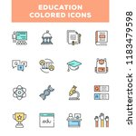 simple set of education related ... | Shutterstock .eps vector #1183479598
