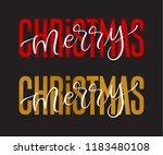 vector holidays lettering.... | Shutterstock .eps vector #1183480108