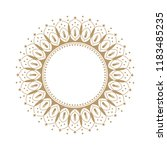 decorative round frame for... | Shutterstock .eps vector #1183485235