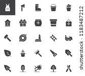 gardening vector icons set ... | Shutterstock .eps vector #1183487212