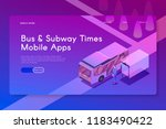 bus and subway times mobile... | Shutterstock .eps vector #1183490422