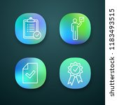 approve app icons set.... | Shutterstock .eps vector #1183493515