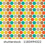 colorful hexagon pattern.... | Shutterstock .eps vector #1183494322