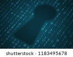 digital keyhole illustration....   Shutterstock . vector #1183495678