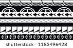 maori   polynesian tattoo style ... | Shutterstock .eps vector #1183496428