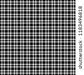 black and white houndstooth... | Shutterstock .eps vector #1183496818