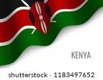waving flag of kenya with...   Shutterstock .eps vector #1183497652