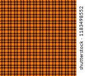 orange and black houndstooth... | Shutterstock .eps vector #1183498552