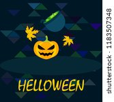 halloween autumn pumpkin fallen ... | Shutterstock .eps vector #1183507348