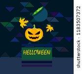 halloween autumn pumpkin fallen ... | Shutterstock .eps vector #1183507372