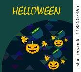 halloween autumn pumpkin fallen ... | Shutterstock .eps vector #1183507465