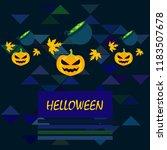 halloween autumn pumpkin fallen ... | Shutterstock .eps vector #1183507678