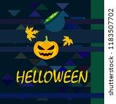 halloween autumn pumpkin fallen ... | Shutterstock .eps vector #1183507702