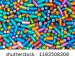 colorful plastic beads or... | Shutterstock . vector #1183508308