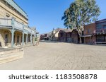 wild west street in a typical... | Shutterstock . vector #1183508878