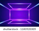 bright neon lines interior...   Shutterstock .eps vector #1183520305