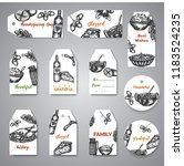 collection of hand drawn tags...   Shutterstock .eps vector #1183524235