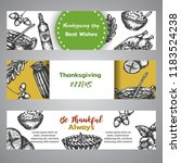 thanksgiving day banners...   Shutterstock .eps vector #1183524238