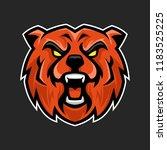 bear mascot  sport esports bear ... | Shutterstock .eps vector #1183525225