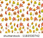 colorful autumn leaves pattern .... | Shutterstock . vector #1183530742