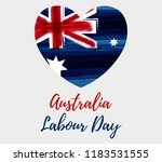australia labour day holiday.... | Shutterstock .eps vector #1183531555