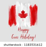 canada happy civic holiday.... | Shutterstock .eps vector #1183531612