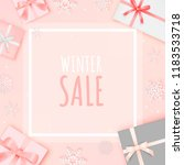 gift box in winter sale theme... | Shutterstock .eps vector #1183533718