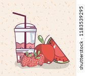 fruits smoothie drink | Shutterstock .eps vector #1183539295
