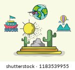 travel and vacations | Shutterstock .eps vector #1183539955