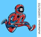 cosmonaut. astronaut. spaceman. ...   Shutterstock .eps vector #1183541722