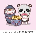 sushi and panda kawaii   Shutterstock .eps vector #1183542472