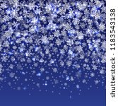 vector snowflakes falling on... | Shutterstock .eps vector #1183543138