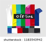 tv off line sticker illustration | Shutterstock .eps vector #1183543942