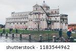 pisa  italy   october 2012 ... | Shutterstock . vector #1183544962