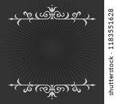 vignette on a black and white... | Shutterstock .eps vector #1183551628