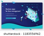 business website template... | Shutterstock .eps vector #1183556962