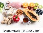health  food to boost immune... | Shutterstock . vector #1183559485