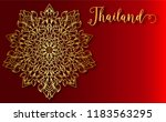 thailand ancient luxury concept.... | Shutterstock .eps vector #1183563295