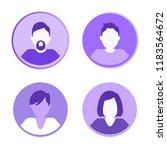 man and woman faceless avatars... | Shutterstock .eps vector #1183564672