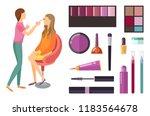 visage and makeup making beauty ... | Shutterstock .eps vector #1183564678