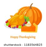 happy thanksgiving day  poster... | Shutterstock .eps vector #1183564825