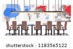 boardroom with big political... | Shutterstock .eps vector #1183565122